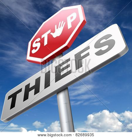 catch thieves stop theft no robbery or pick pocket thief arrest by police investigation or neighborhood watch online internet thief