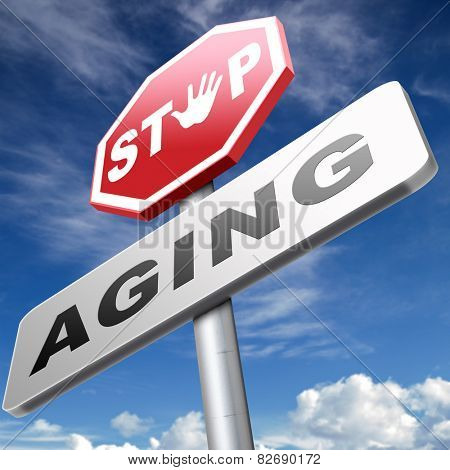 stop aging stay young forever staying and looking younger than you are not growing old