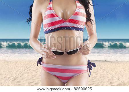 Woman With Perfect Body Wearing Bikini