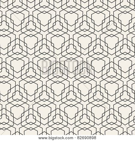 Vector Modern Pattern. Black Techno Repeating Texture. Geometric Pattern Background. Rhombus and Lines. Abstract Seamless Ornament for Business Design.