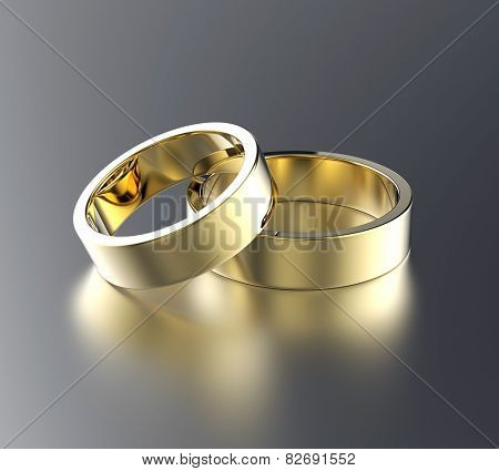 Wedding gold ring. Jewelry background