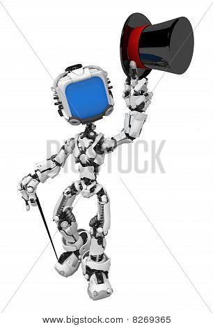 Blue Screen Robot, Top Hat