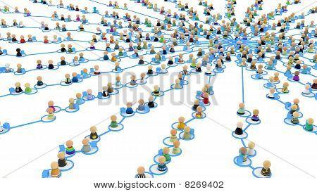 Cartoon Crowd Links, Supply Web Center