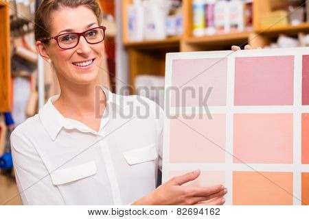 Interior Designer with paint sample card