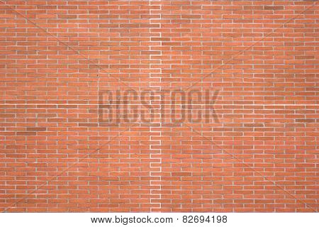 Red Brick Texture With Bright Lines