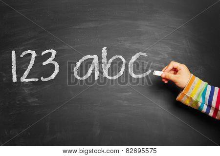 Child's hand writing