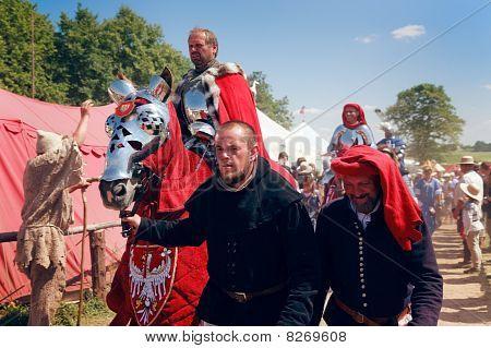 Polish King Wladyslaw Jagiello Aproaching The Battlefield (jacek Szymański)