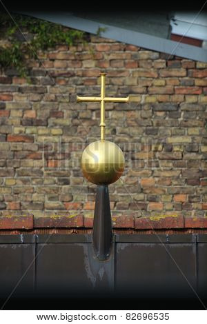 Golden Cross On The Roof