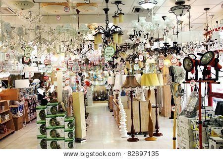 Luminaires In The Store
