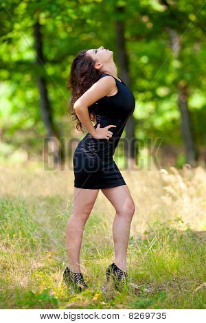 Beautiful Young Woman Outdoor