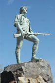 Постер, плакат: Минитмен статуя на Лексингтон Грин битвы в штате Массачусетс