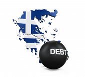 picture of crisis  - Greece Economic Crisis Illustration isolated on white background - JPG