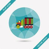 image of wreckers  - Transportation Tow Truck Flat Icon With Long Shadow - JPG