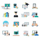 image of graduation  - Online education e - JPG
