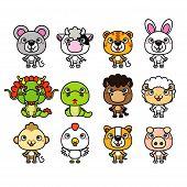 picture of chinese zodiac animals  - 12 Chinese Zodiac animal - JPG