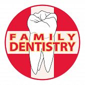 picture of molar  - Family Dentistry is an illustration of a design used for family dentists - JPG