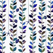 foto of vines  - Background image of nature leaf vine pattern in blue tone - JPG