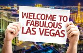 pic of las vegas casino  - Welcome to Fabulous Las Vegas card with city background - JPG