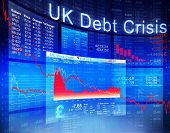 picture of crisis  - UK Debt Crisis Economic Stock Market Banking Concept - JPG