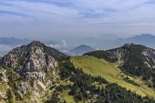 image of bavarian alps  - View from a mountain in the bavarian alps