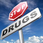 Постер, плакат: stop drug addiction no drugs addict cocaine heroin crack christal meth