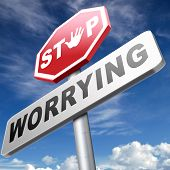 pic of calm  - stop worrying no more worries solve all problems and relax keep calm and dont panic - JPG