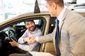 stock photo of rental agreement  - auto business - JPG