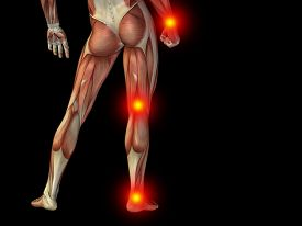 picture of hurt  - Conceptual human man anatomy lower body or health design - JPG