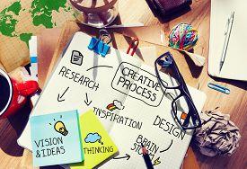 image of creativity  - Creative Process Design Concept - JPG