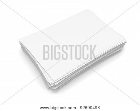 Heap Of White Paper Sheets