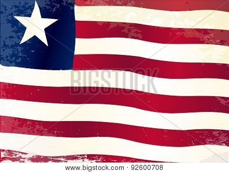 Liberia Flag Grunge