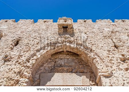 Upper Part Of Zion Gate, Jerusalem