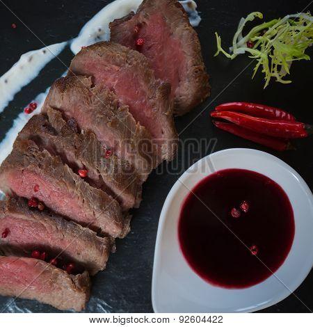 Medium Rare Cooked Beef Roast