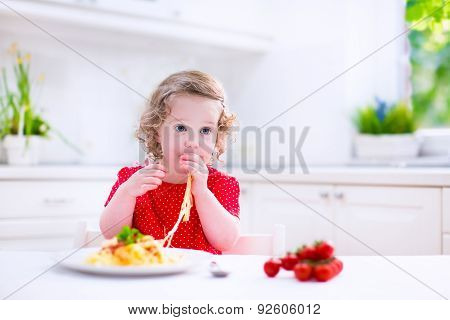 Child Eating Pasta
