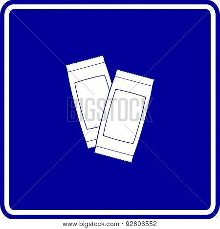 condiment sachets sign