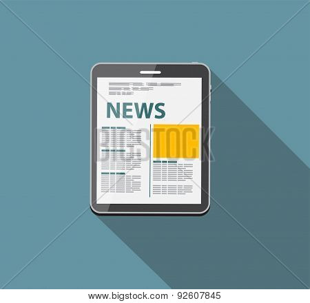 Online News Vector illustration. Flat computing background