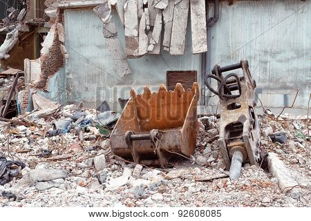Old Building Destroyed Demolition Construction Concrete Architecture Garbage Abandoned