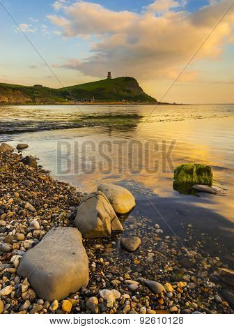 Sunset Over The Cliffs At Kimmeridge