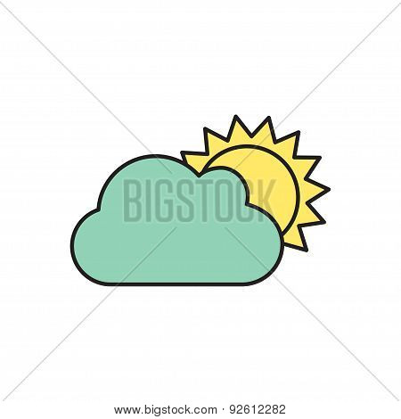 Vector cloudiness icon.