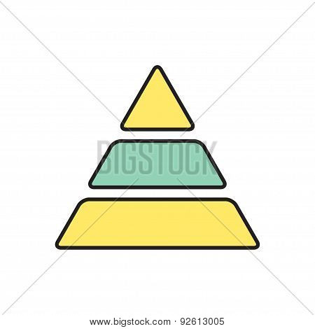 Vector pyramid icon. Eps10