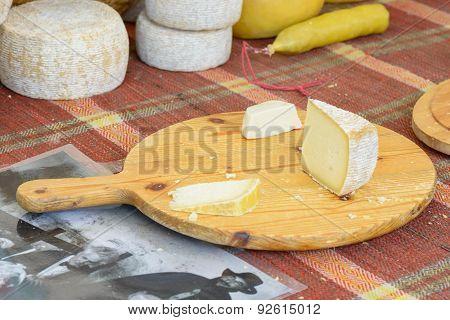 Italian Cheese On Wood