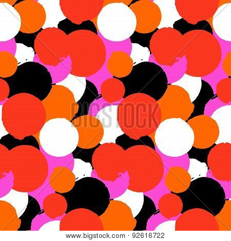 Bold vector polka dot pattern