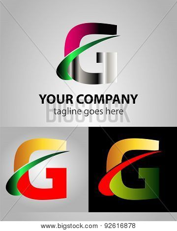 Corporate Logo G Letter company vector design template