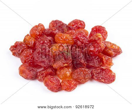 Dried Tomato On White Background