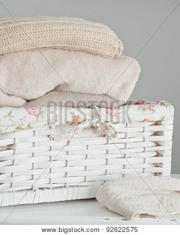 Knitting Clothes In Basket