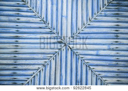 Grunge Blue Bamboo Background And Texture