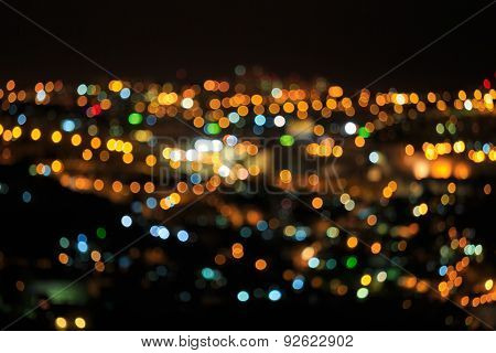 Bright Defocused Colored Lights