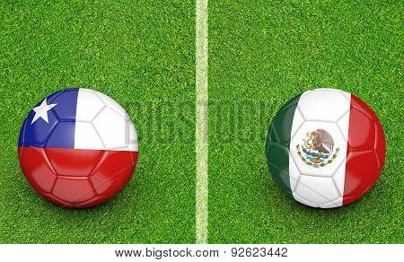 2015 Copa America football tournament, teams Chile vs Mexico