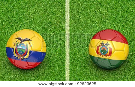 2015 Copa America football tournament, teams Ecuador vs Bolivia