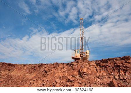 Drilling Holes Machine In A Coal Mine